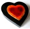 Anubis Platte Herz auf Steinträger