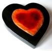 Grabplatte Herz mit Trägerplatte aus Glas