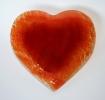 Glasträgerplatte Herz