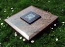 Grabplatte mit Trägerplatte und Laserung