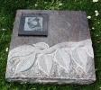 Grabplatte mit Ornament, Trägerplatte und Laserung