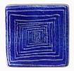 Glas / Farbmuster Moving blau Q
