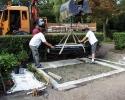 Montage des Häuptlingsgrabes
