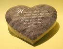 Grabplatte Herz mit Profil und Beschriftung